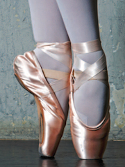 Close-up of Pointe shoes